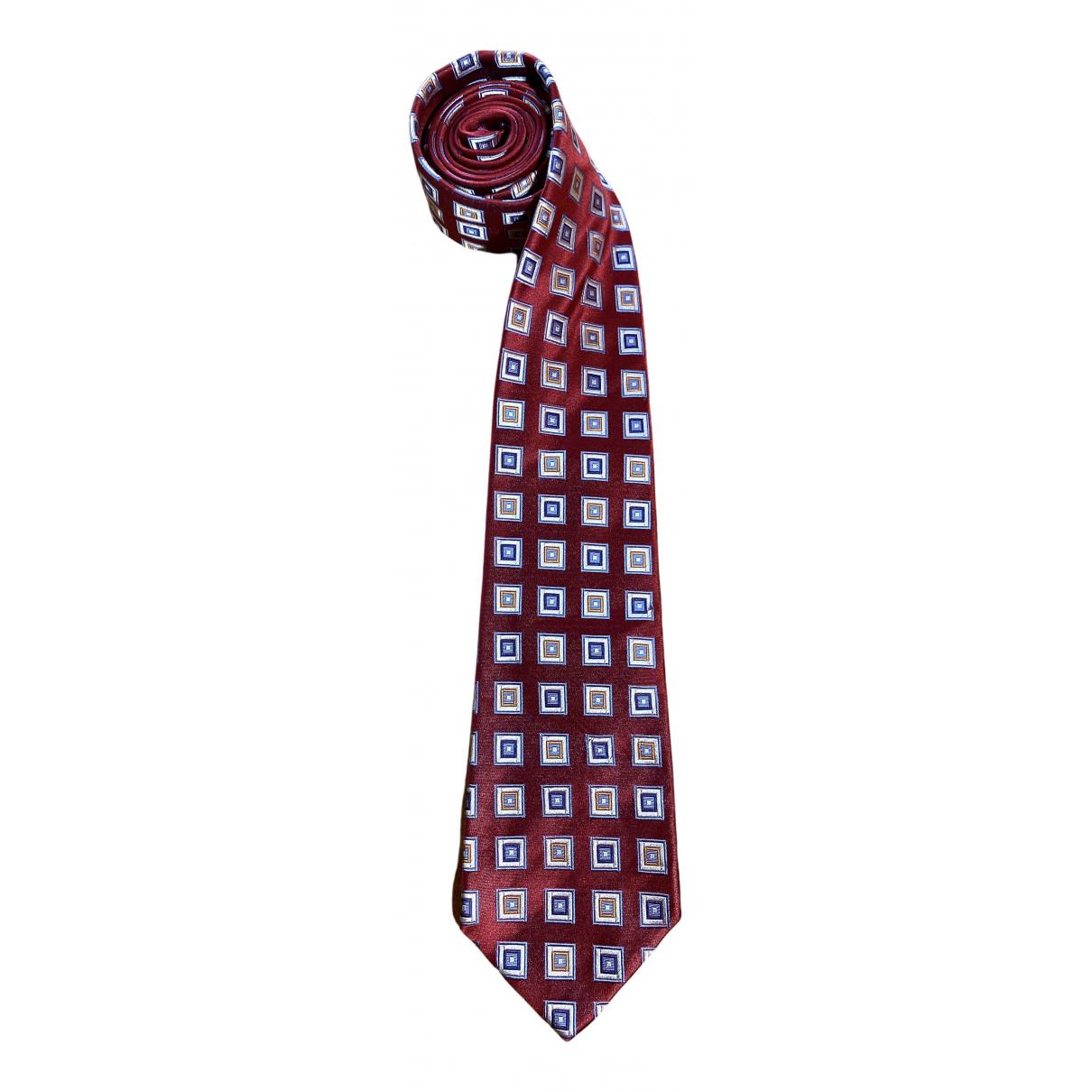 Kiton \N Krawatten in  Rot Seide