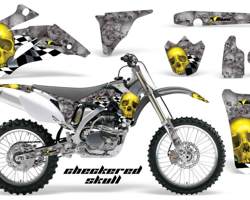 AMR Racing Dirt Bike Graphics Kit Decal Wrap For Yamaha YZ250F YZ450F 2006-2009áCHECKERED YELLOW