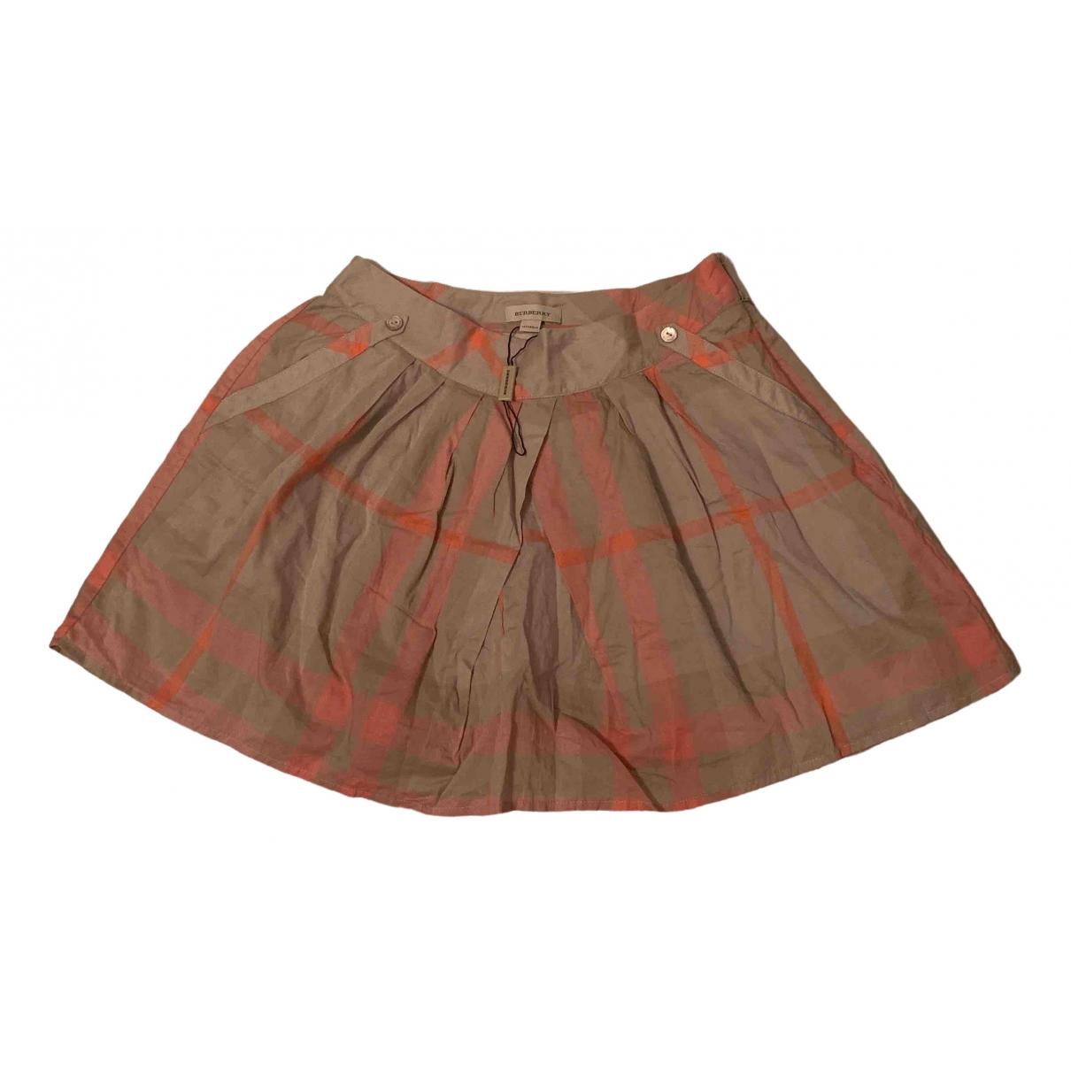 Burberry - Jupe   pour femme en coton - multicolore