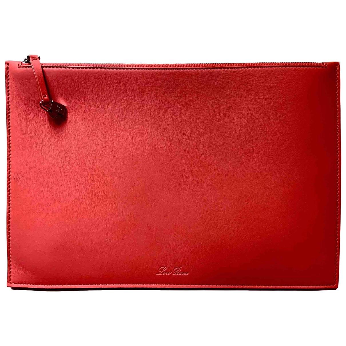 Loro Piana \N Clutch in  Rot Leder