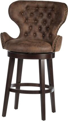 Mid-City Collection 5076-826 Stool with Wood  Upholstered Swivel Counter Height and tapered legs in