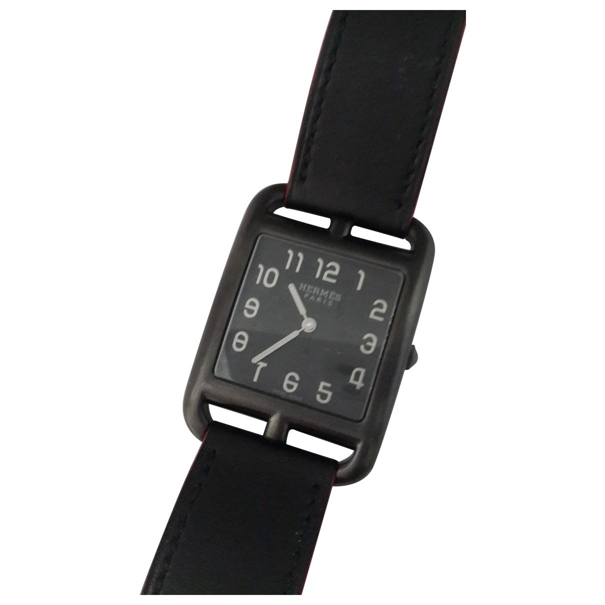 Hermes Cape Cod Uhr in  Schwarz Stahl