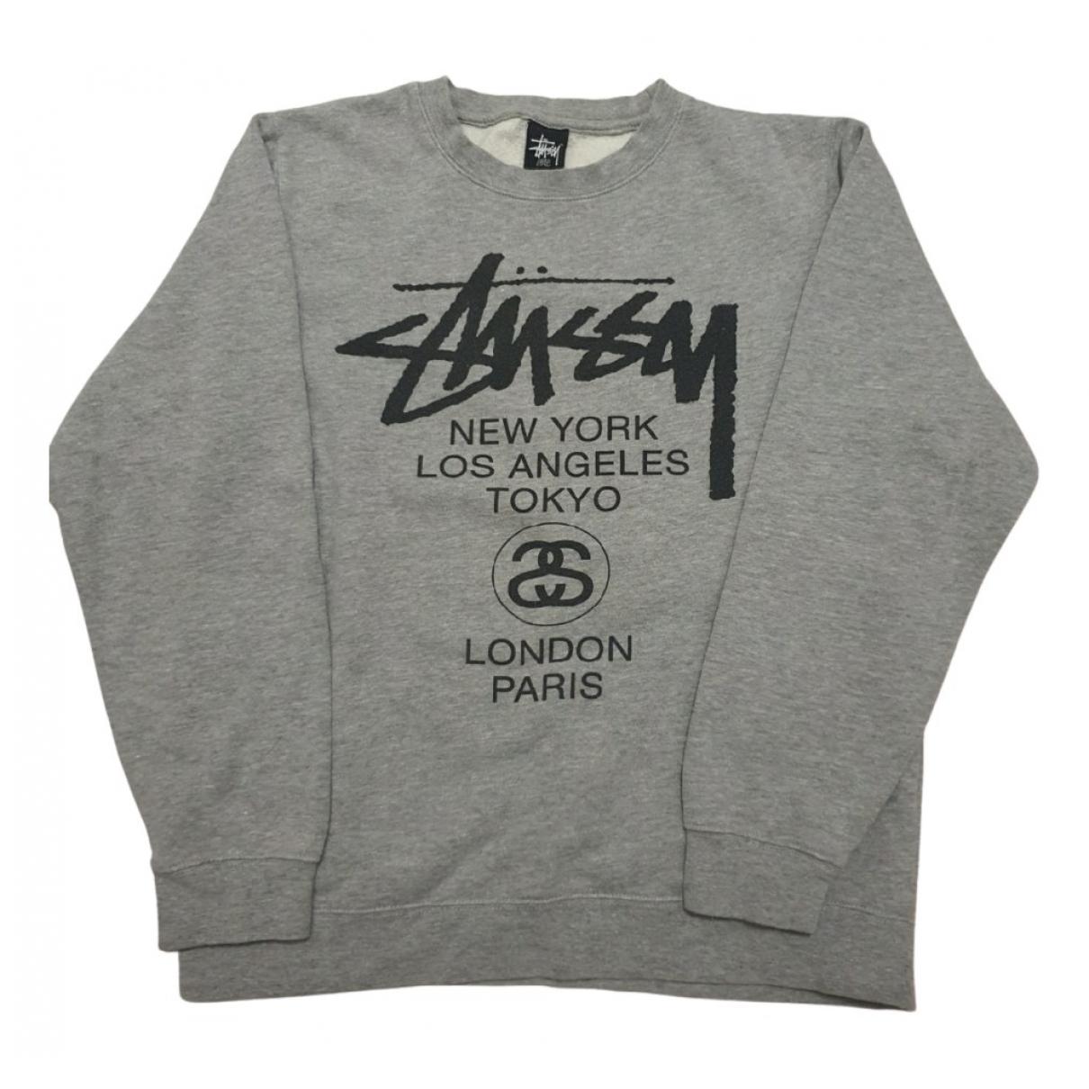Stussy \N Pullover.Westen.Sweatshirts  in  Grau Baumwolle