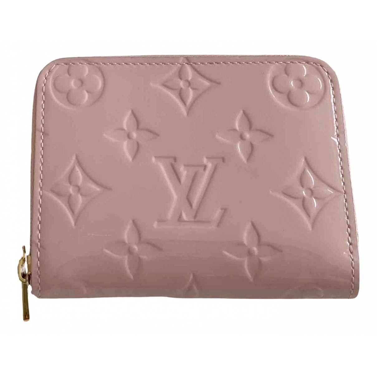 Louis Vuitton Zippy Kleinlederwaren in  Rosa Lackleder