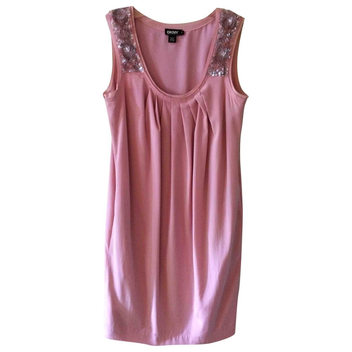 Dkny \N Pink Silk dress for Women S International