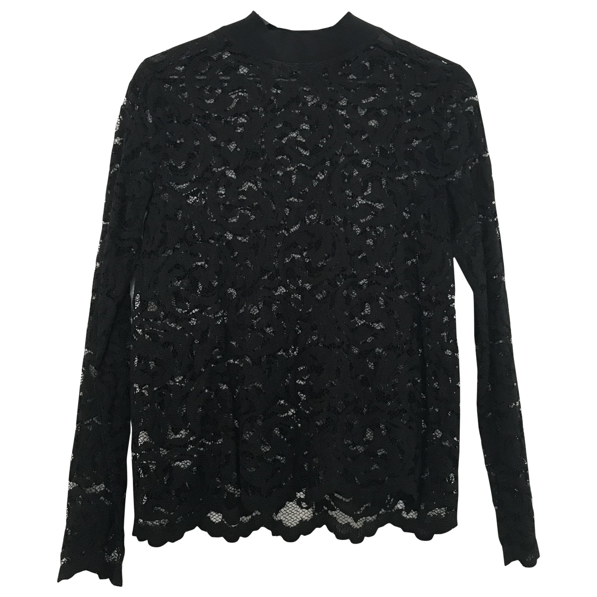 Samsoe & Samsoe - Top   pour femme en dentelle - noir