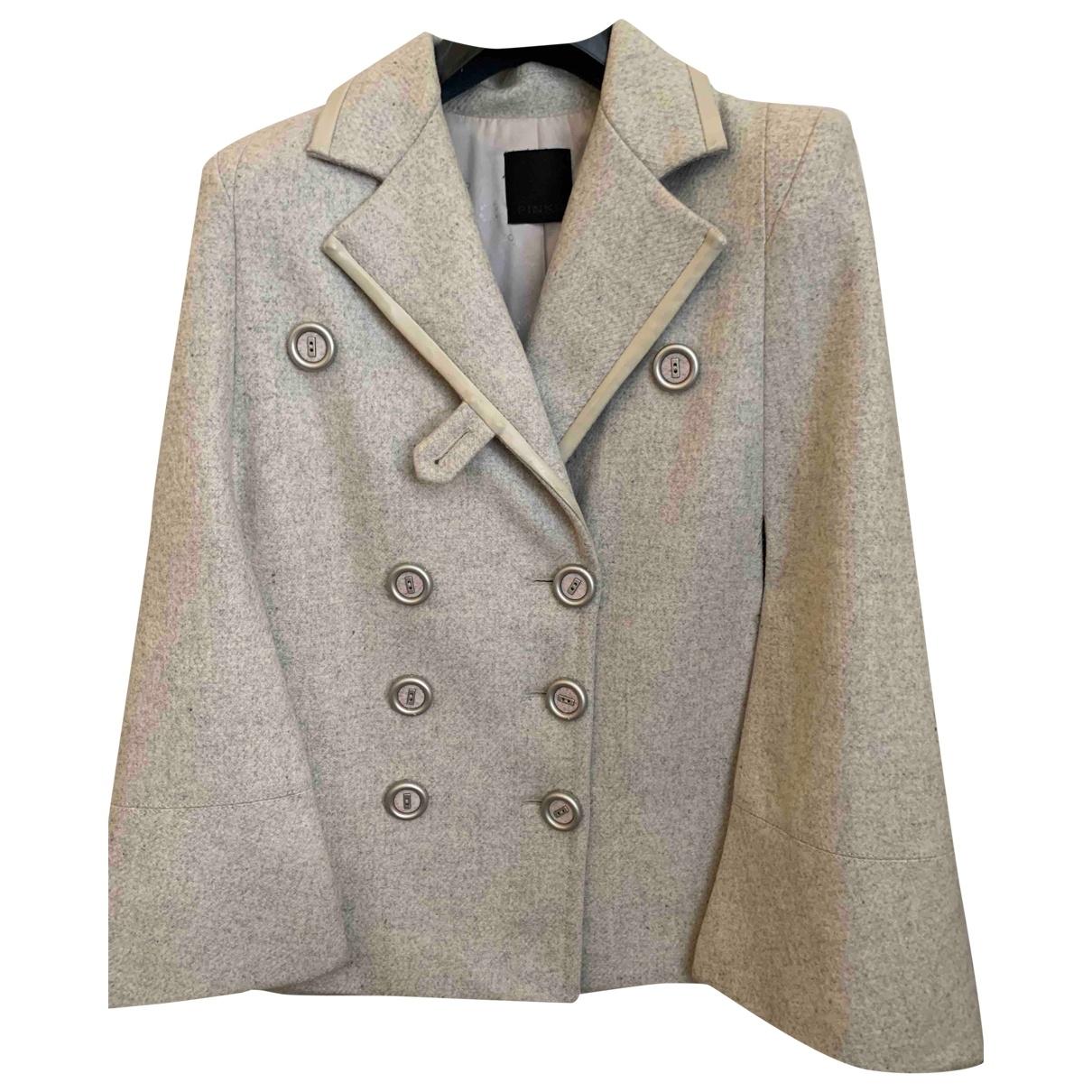 Pinko \N Maentel in  Grau Wolle