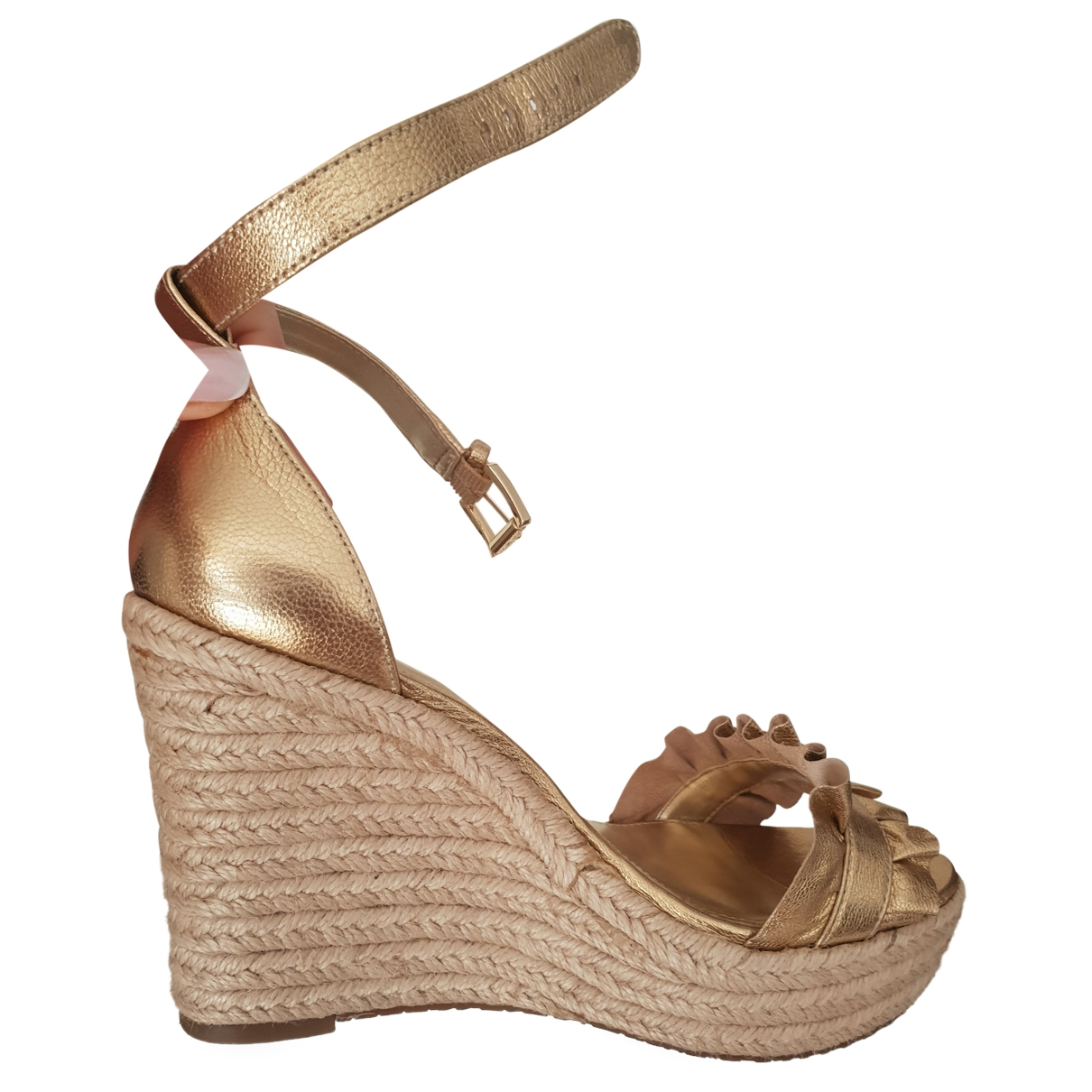 Michael Kors \N Gold Leather Espadrilles for Women 36 EU