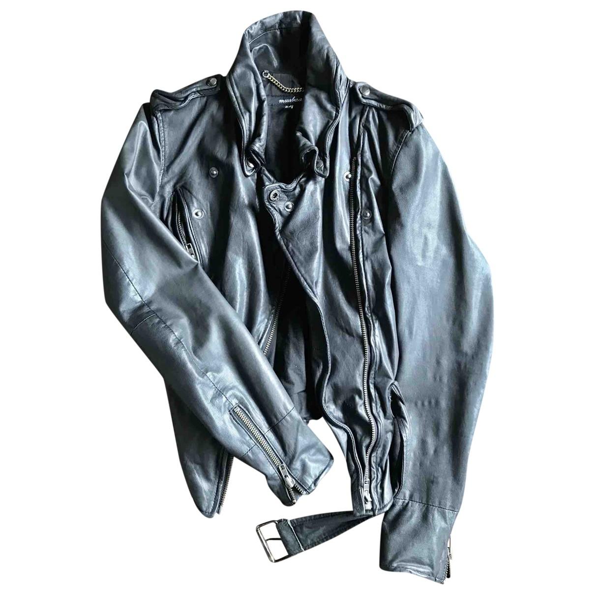 Muubaa \N Black Leather jacket for Women 36 IT