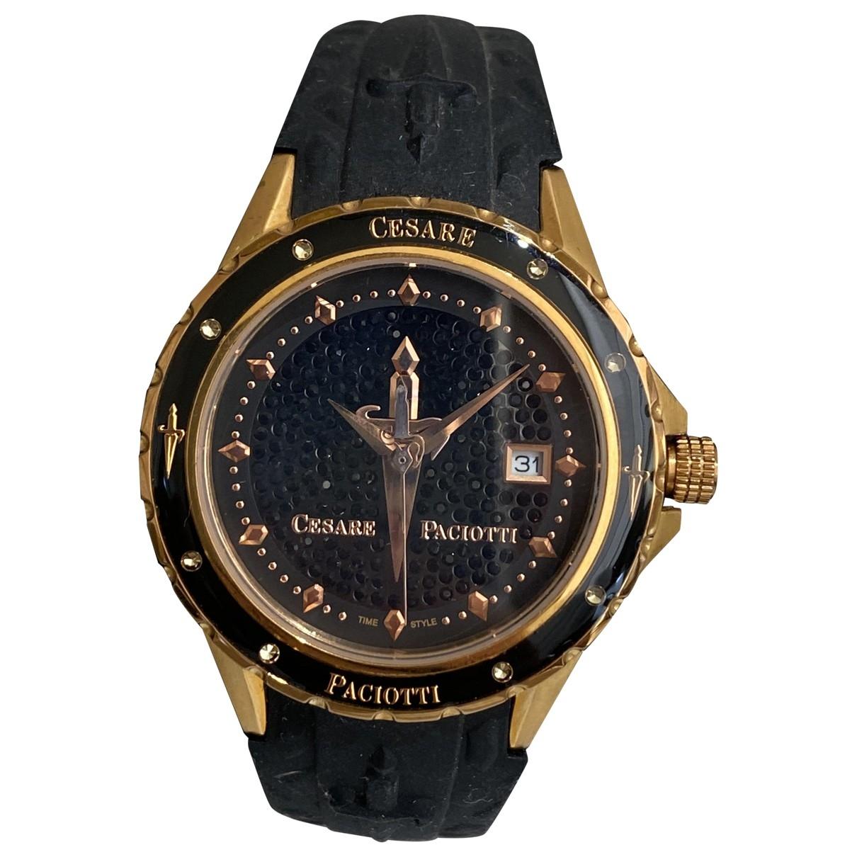 Cesare Paciotti \N Uhr in  Schwarz Stahl