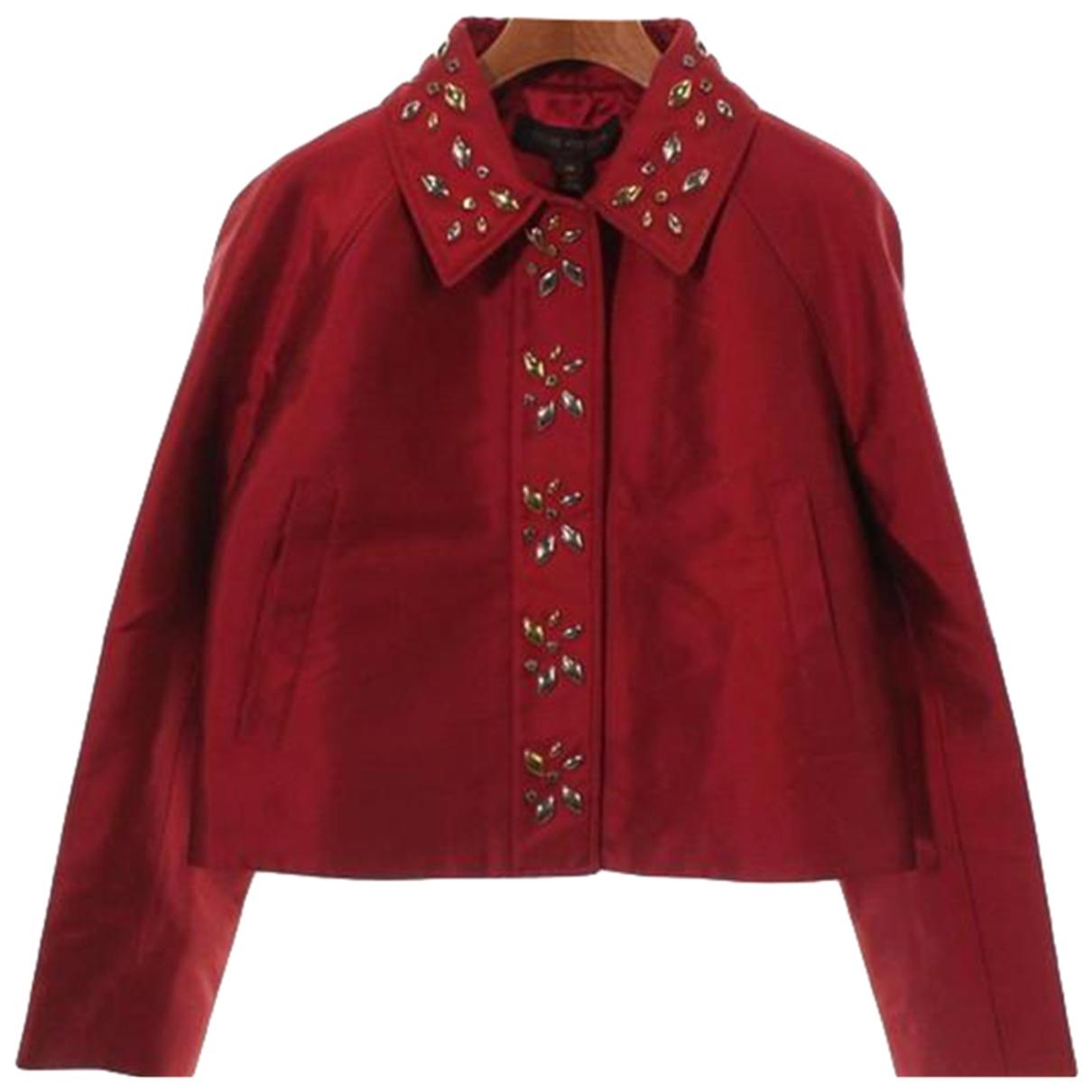 Louis Vuitton - Veste   pour femme en soie - rouge