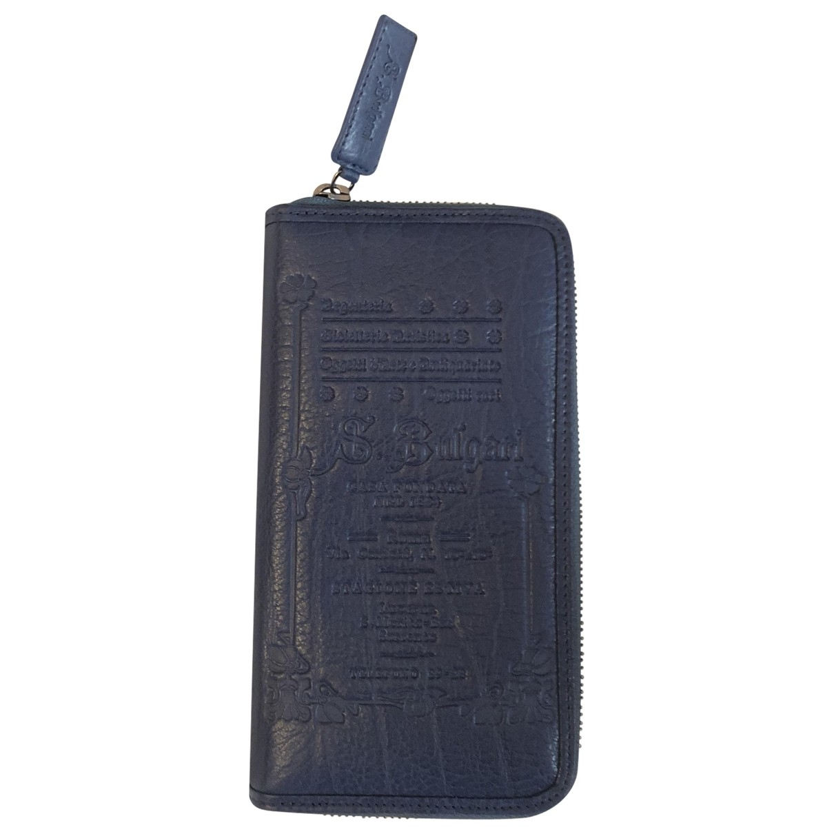 Bvlgari \N Blue Leather wallet for Women \N