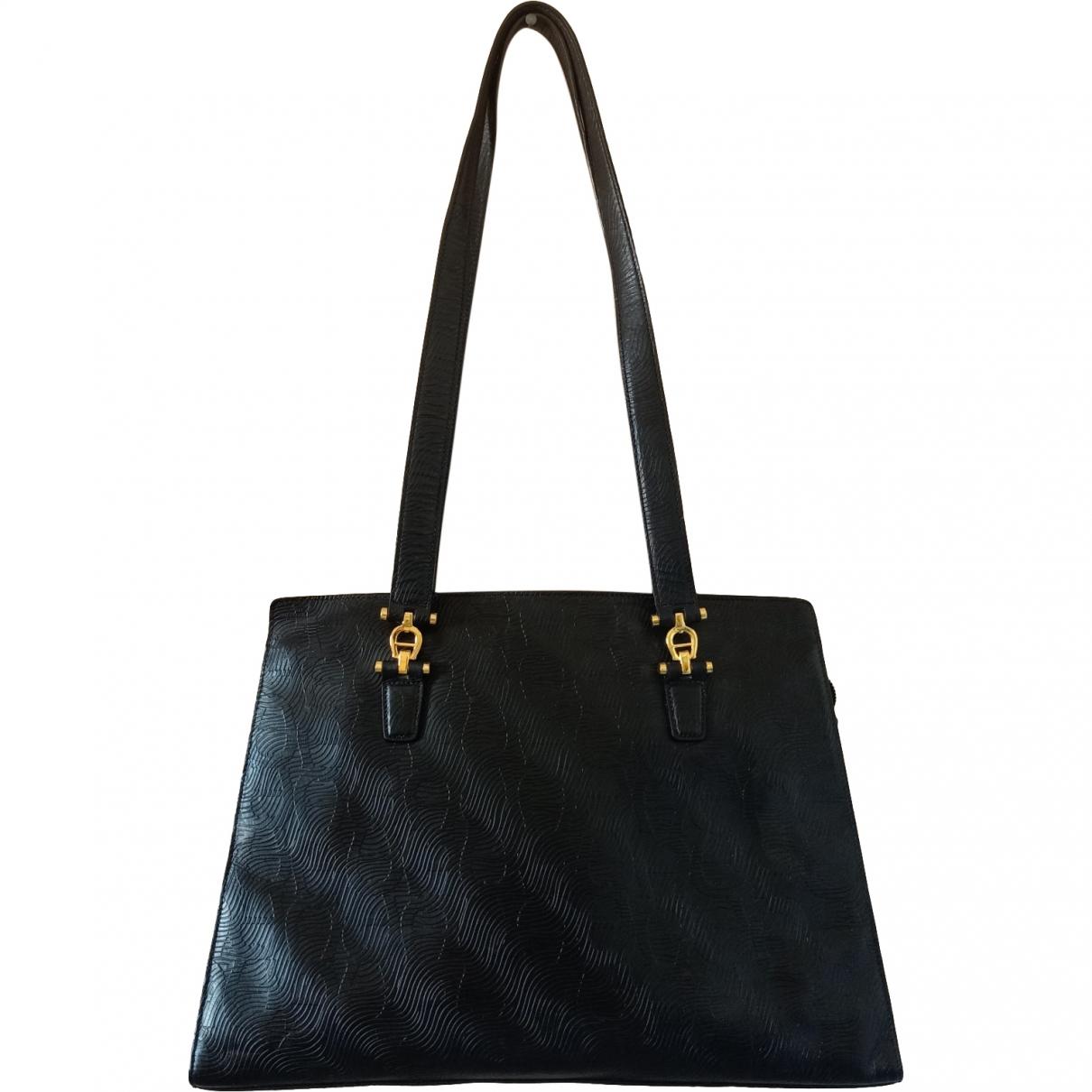 Aigner \N Black Leather handbag for Women \N
