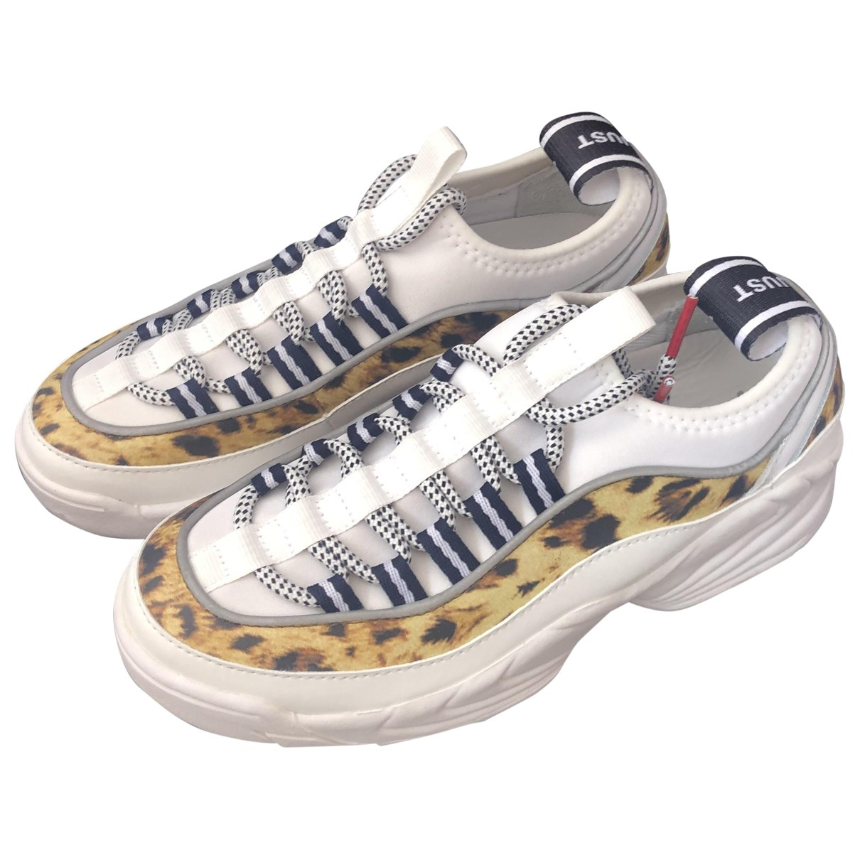 Just Cavalli \N White Leather Trainers for Women 37 EU