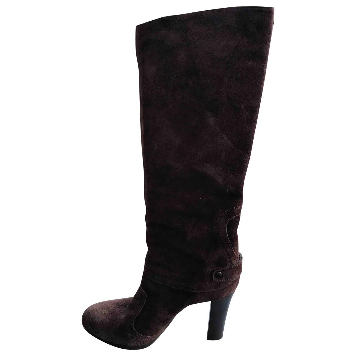 Vic Matié N Brown Suede Boots for Women 35 EU