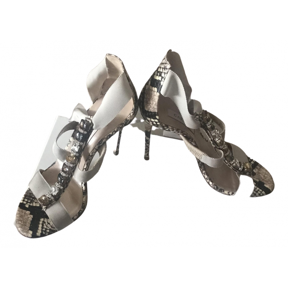 Casadei N Leather Heels for Women 36.5 EU