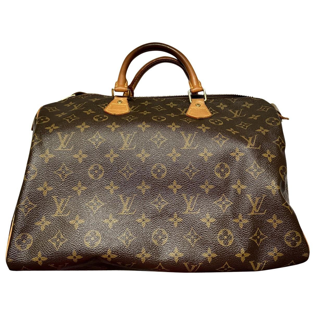 Louis Vuitton - Sac a main Speedy pour femme en toile - marron