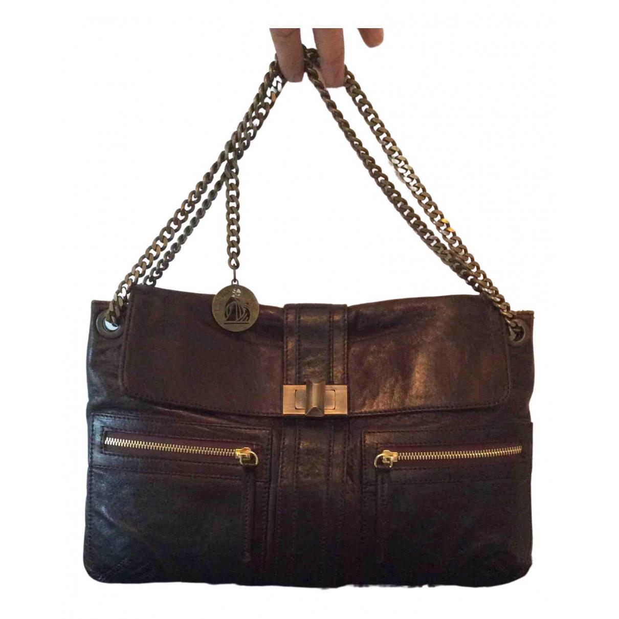 Lanvin \N Handtasche in  Braun Leder