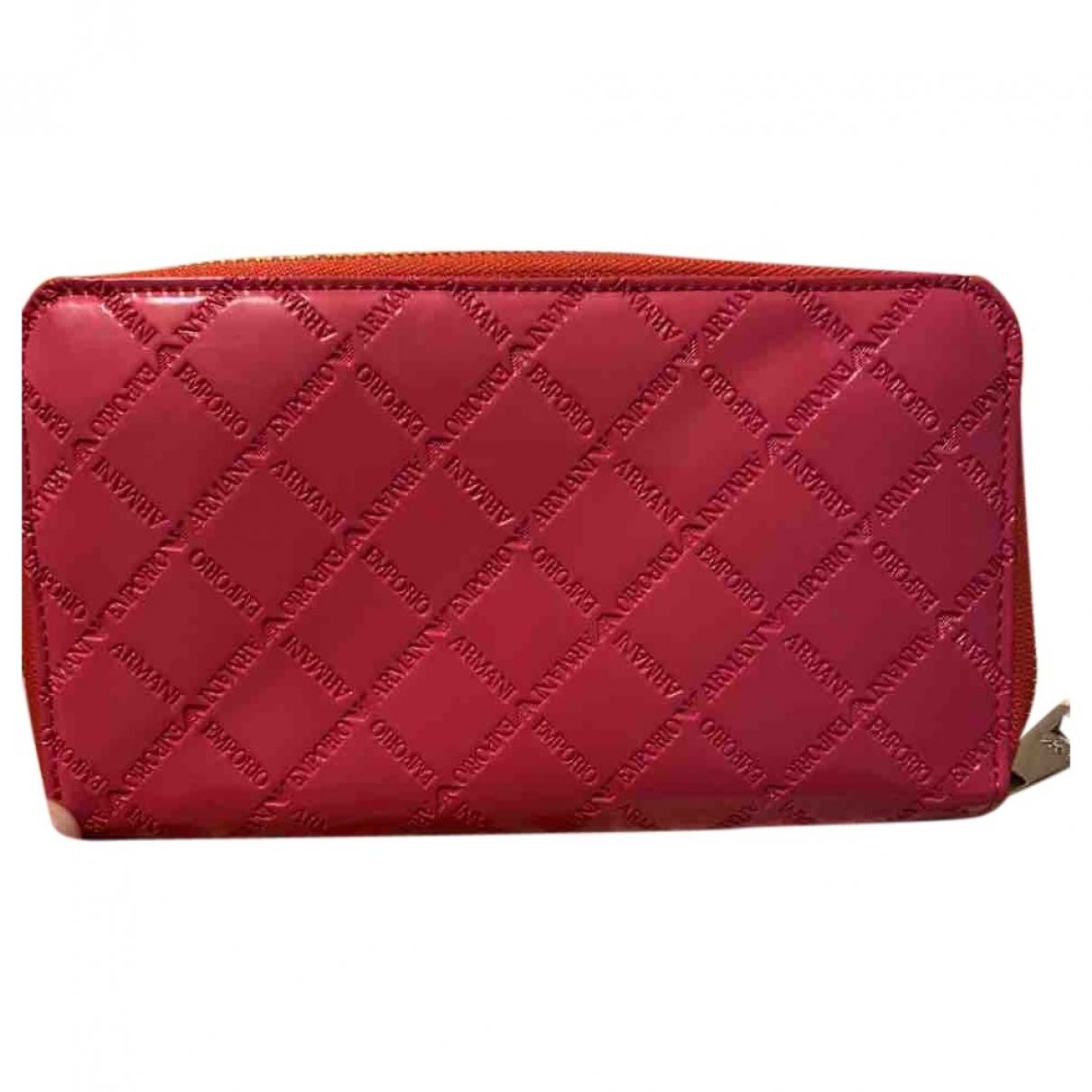 Emporio Armani \N Pink Patent leather wallet for Women \N