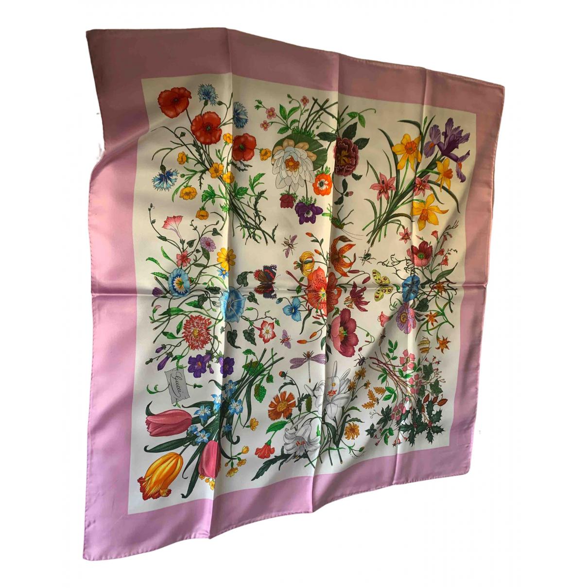 Gucci - Carre   pour femme en soie - multicolore