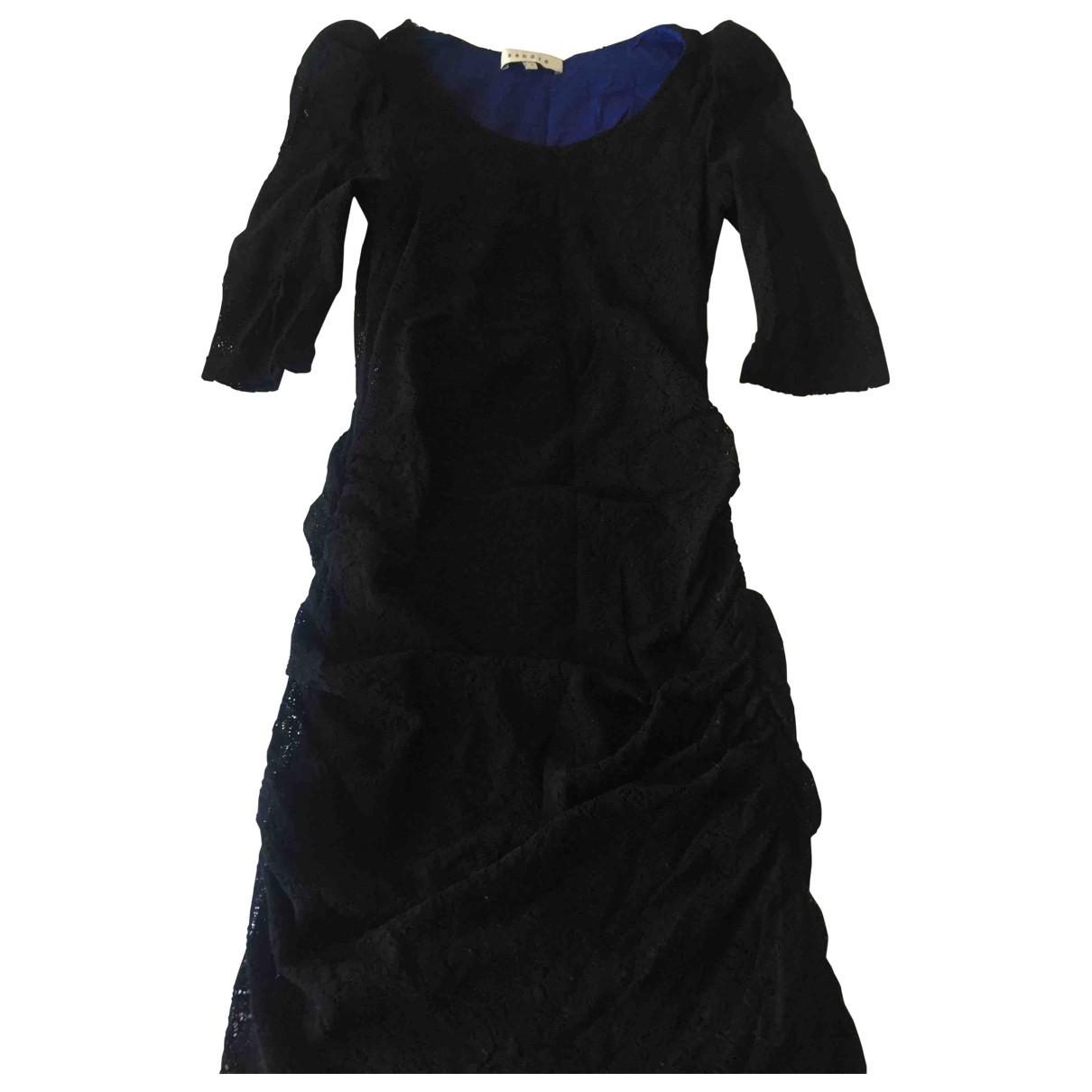 Sandro \N Kleid in  Schwarz Baumwolle - Elasthan