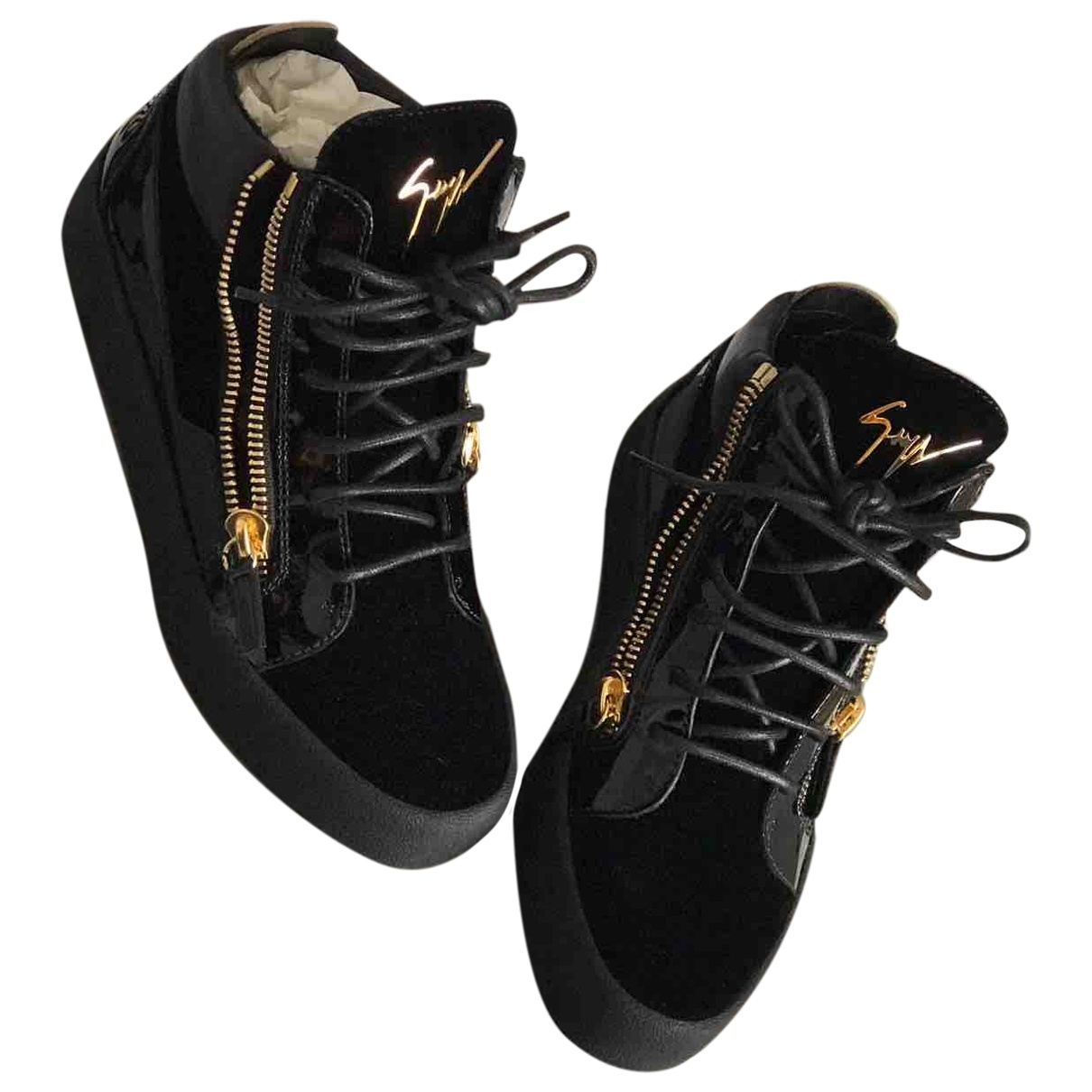 Giuseppe Zanotti \N Sneakers in  Schwarz Veloursleder