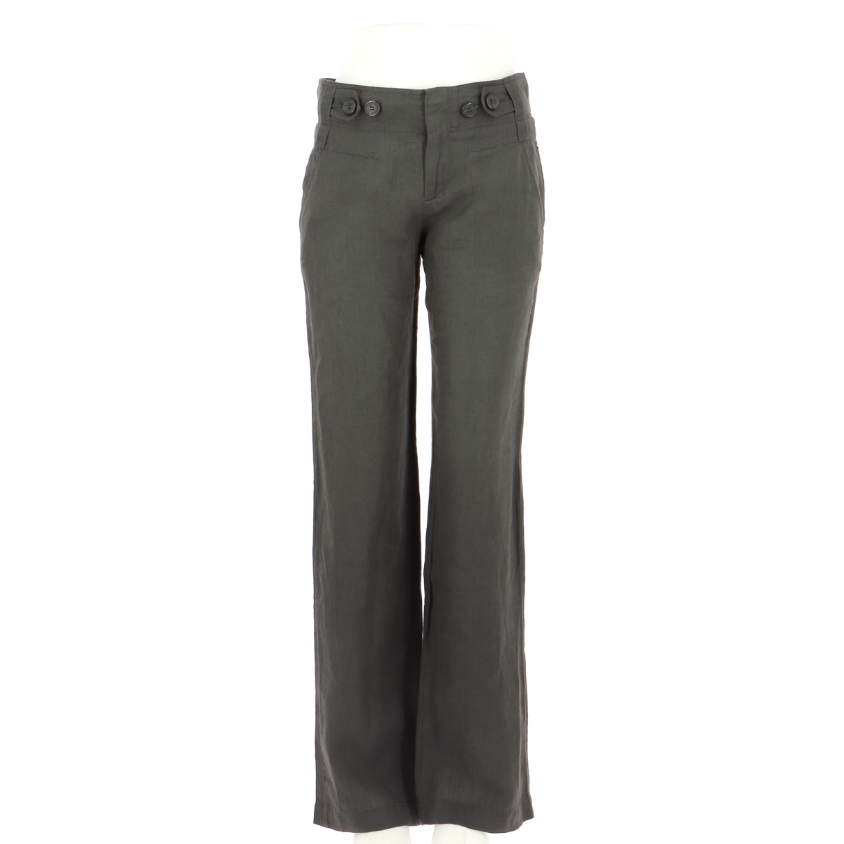 Comptoir Des Cotonniers N Brown Linen Trousers for Men 36 FR