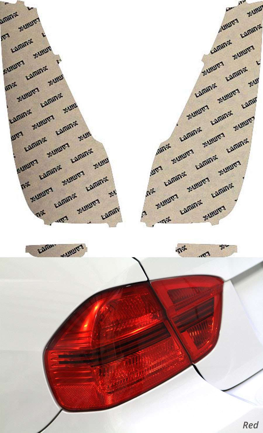 Hyundai Elantra Touring 09-10 Red Tail Light Covers Lamin-X HY213R