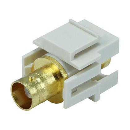Modular BNC Keystone Jack - Ivory - Monoprice®