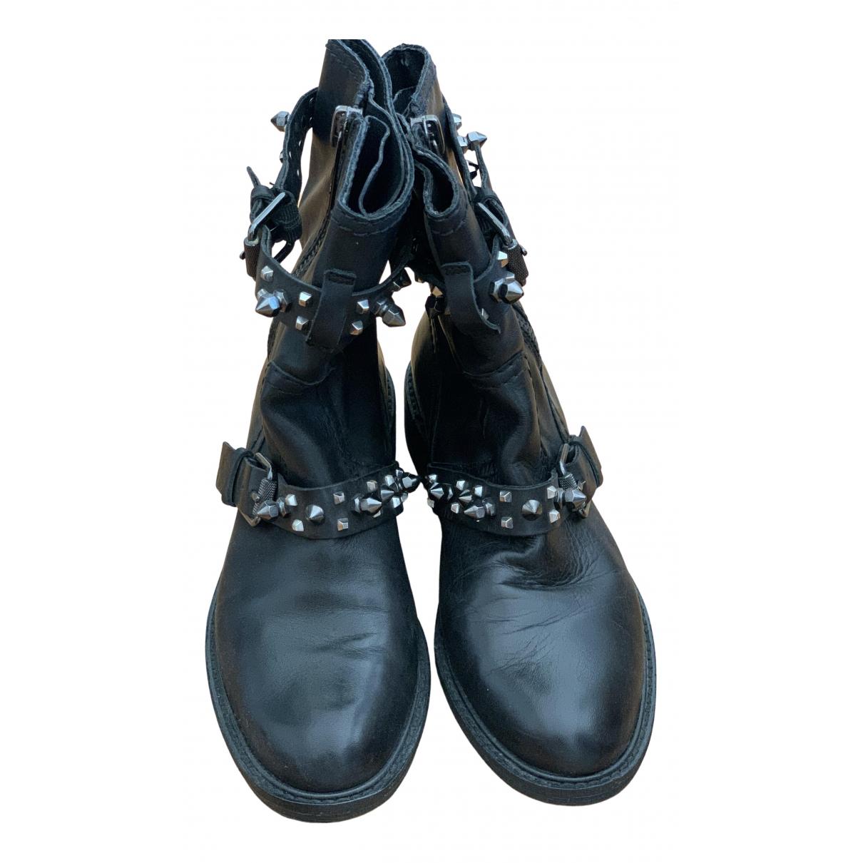 Sam Edelman \N Black Leather Boots for Women 38 EU