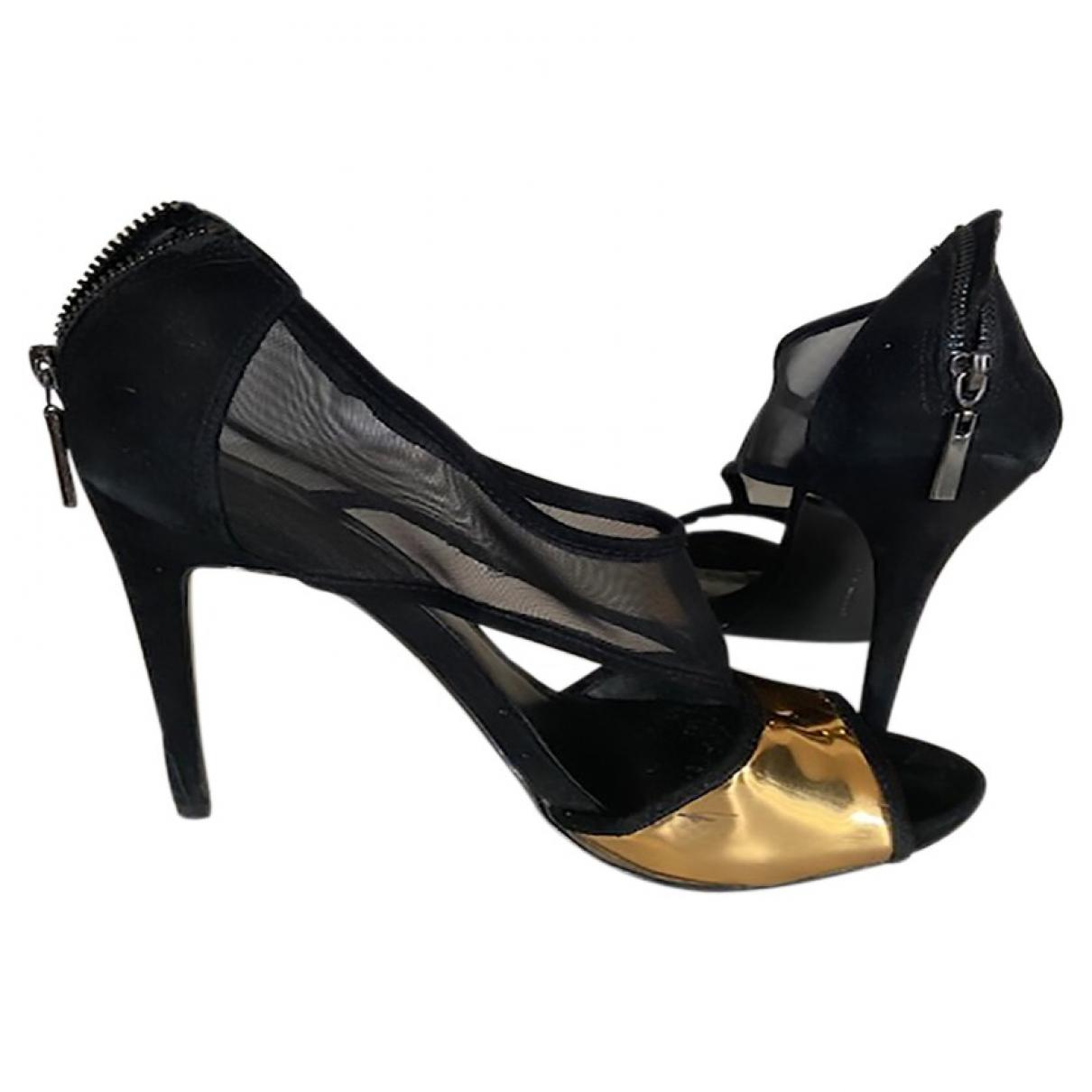 Zara \N Black Suede Heels for Women 38 EU