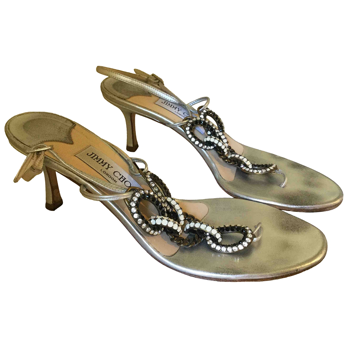 Jimmy Choo - Sandales   pour femme en cuir - argente