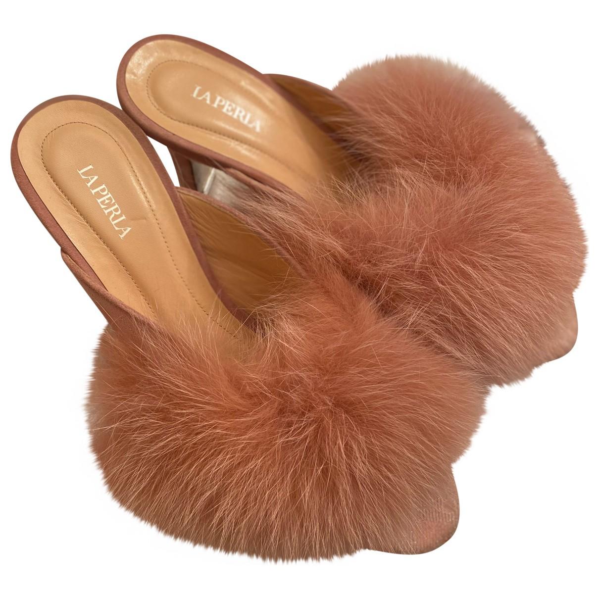 La Perla N Pink Fox Mules & Clogs for Women 38 EU