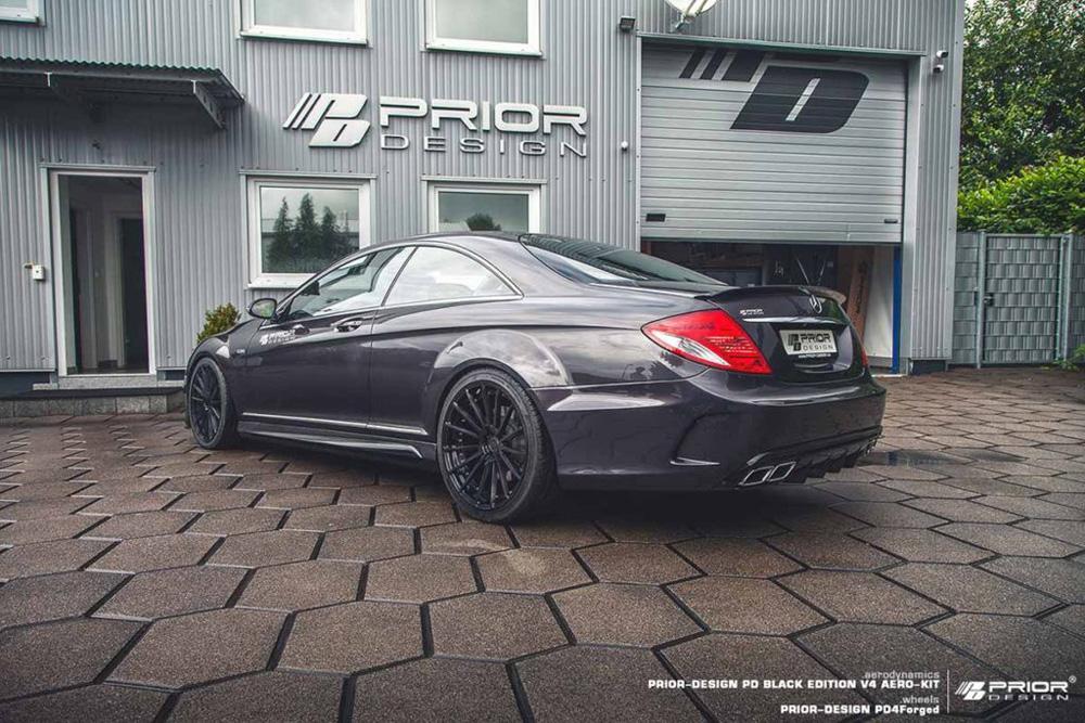 Prior Design 4260609892031 PD Black Edition V4 Rear Trunk Spoiler Mercedes-Benz CL-Class W216 07-10