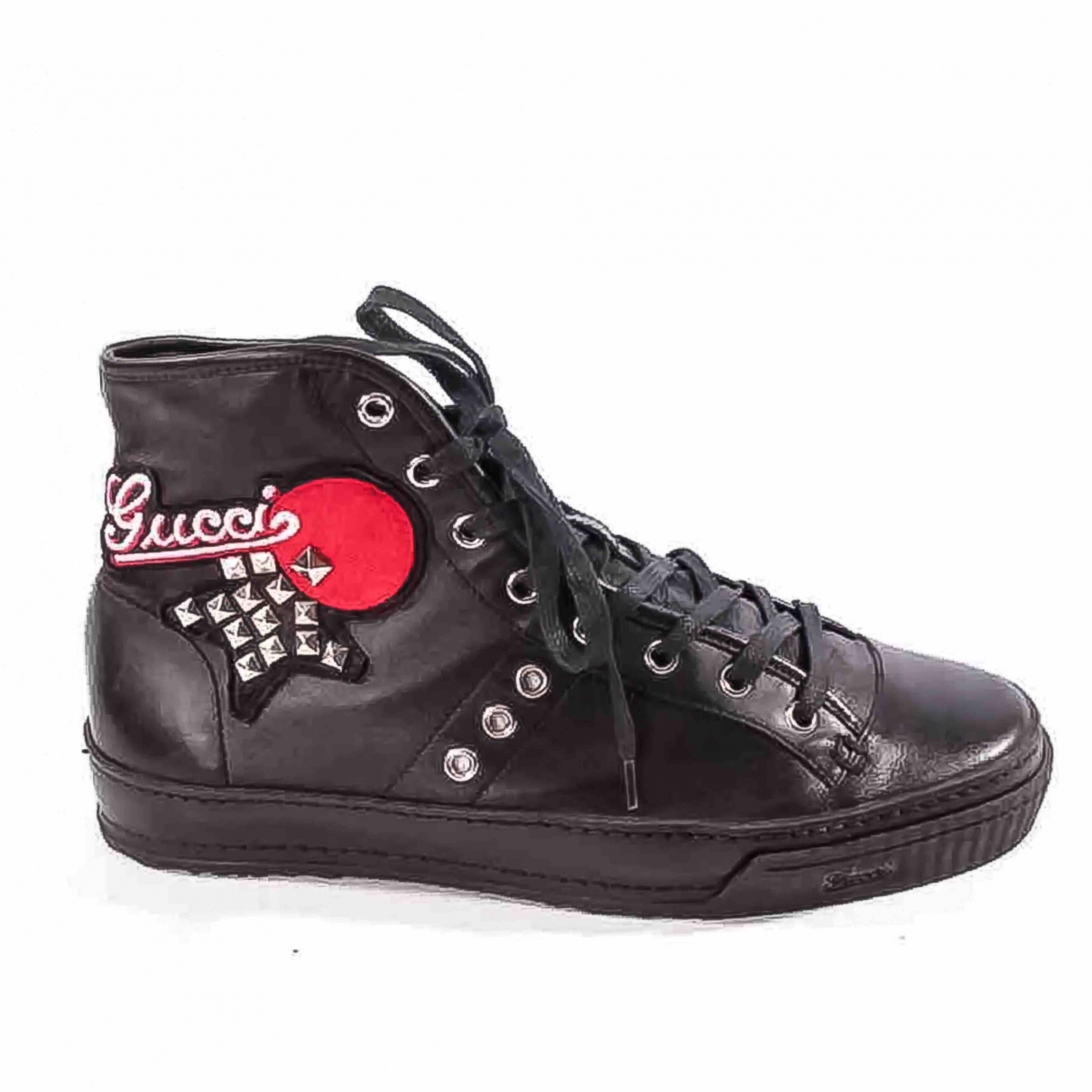 Gucci \N Black Leather Trainers for Women 5.5 UK
