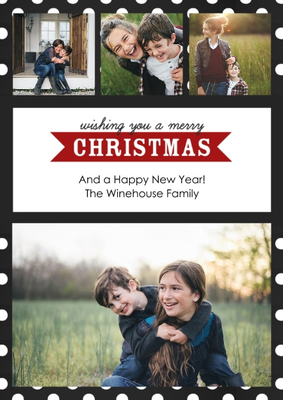 Christmas Photo Cards 5x7 Cards, Premium Cardstock 120lb, Card & Stationery -Modern Merry Christmas