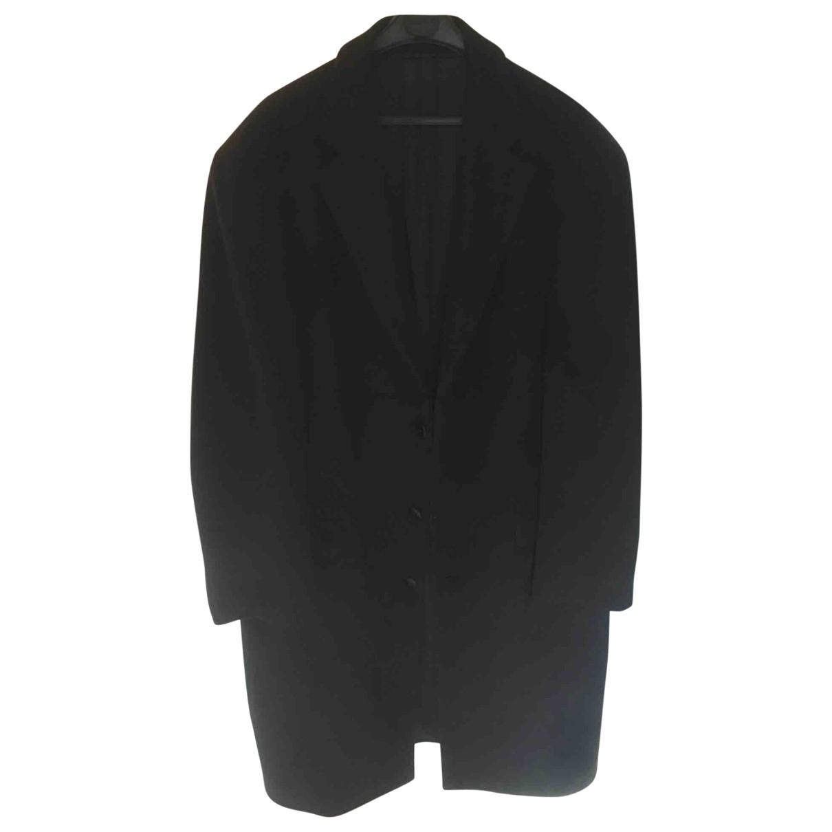 Courreges - Manteau   pour homme en laine - noir