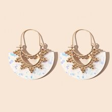 Hollow Out Geometric Shaped Earrings