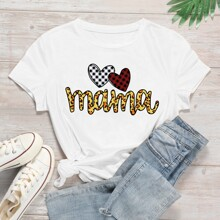 Heart & Letter Graphic Tee