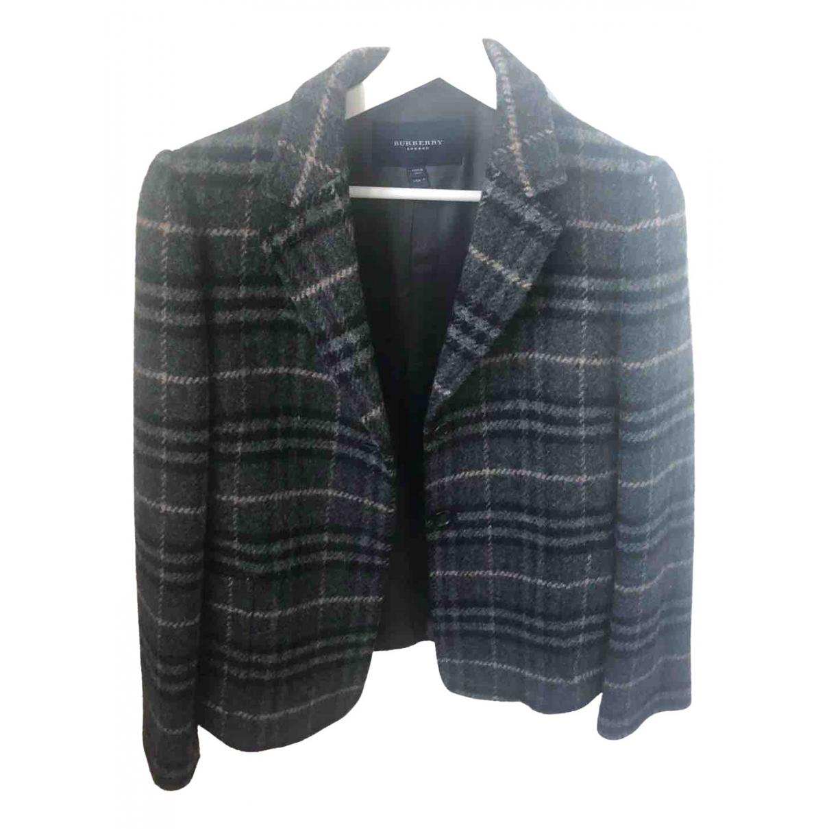 Burberry \N Black Wool jacket for Women 6 US
