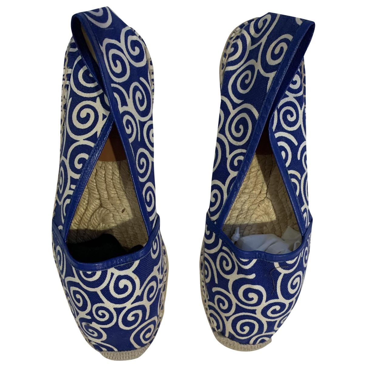 Diane Von Furstenberg - Espadrilles   pour femme en toile - bleu