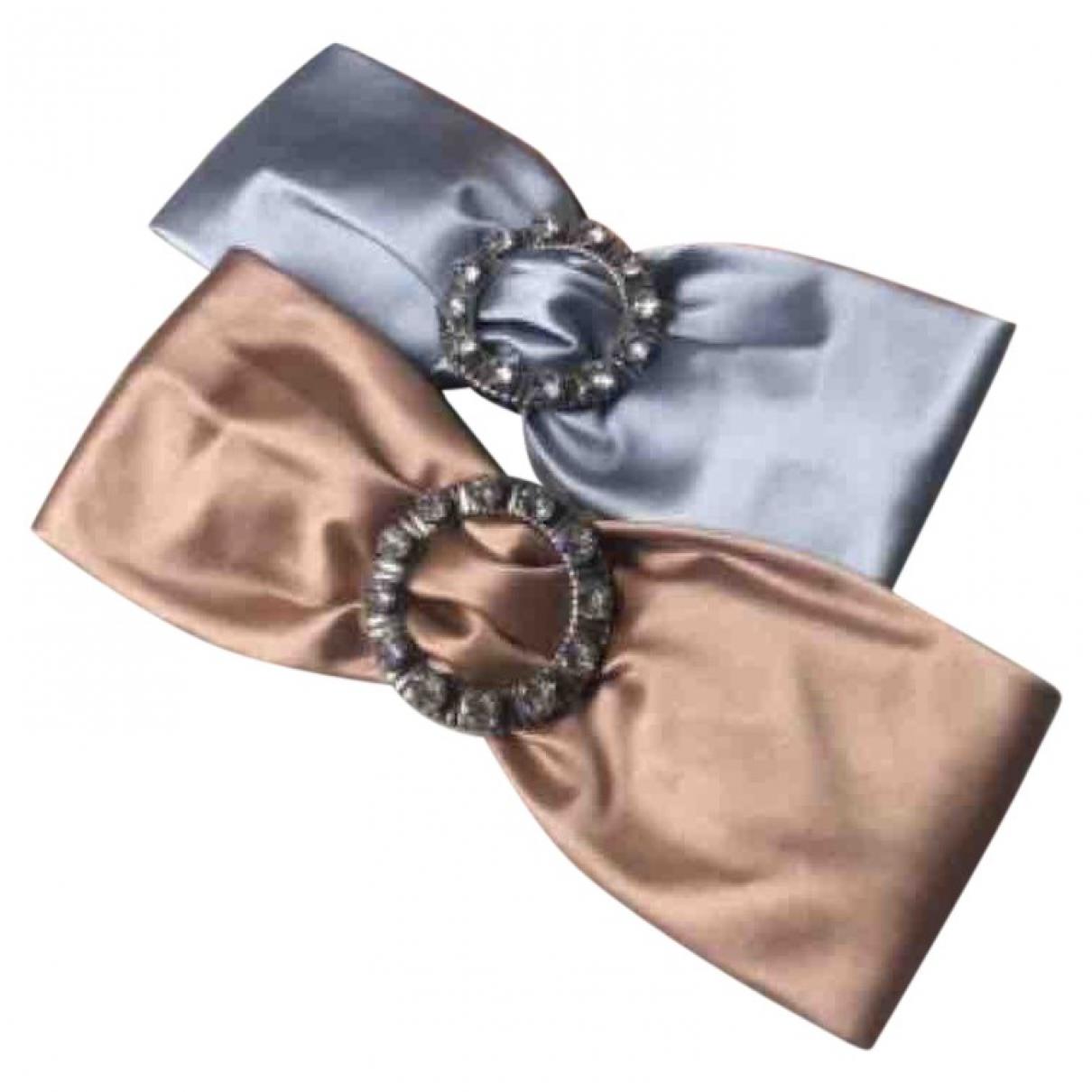 Miu Miu - Bijoux de tete   pour femme en soie - bleu