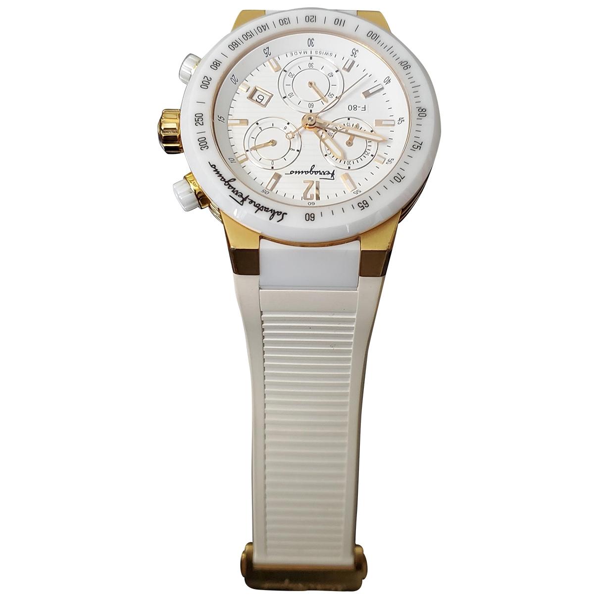 Salvatore Ferragamo \N White Ceramic watch for Women \N