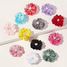 12pcs Toddler Girls Flower Decor Hair Clip