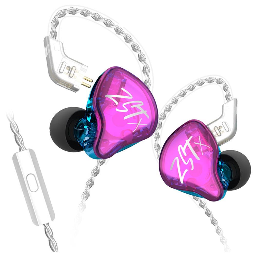 KZ ZST-X In-ear Earbuds Dual Dynamic Unit Purple