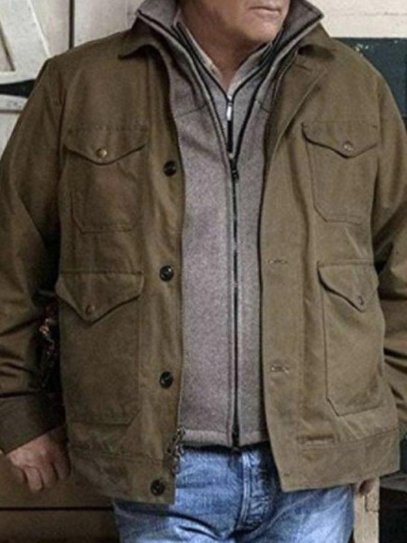 Ericdress Lapel Plain Pocket Loose Fall Jacket