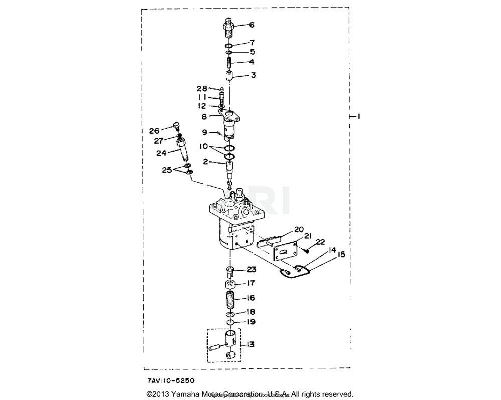 Yamaha OEM YF1-58415-12-40 GASKET, DLVERY.VLV.