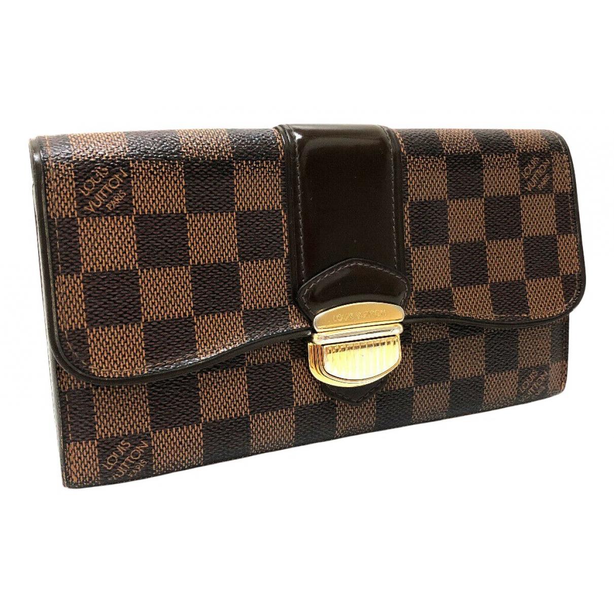Louis Vuitton - Portefeuille Sistina pour femme en toile - marron