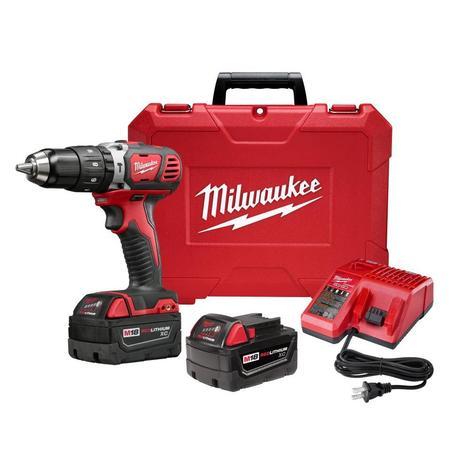 Milwaukee M18™ Compact 1/2 In. Hammer Drill Driver Kit w/ XC Batteries