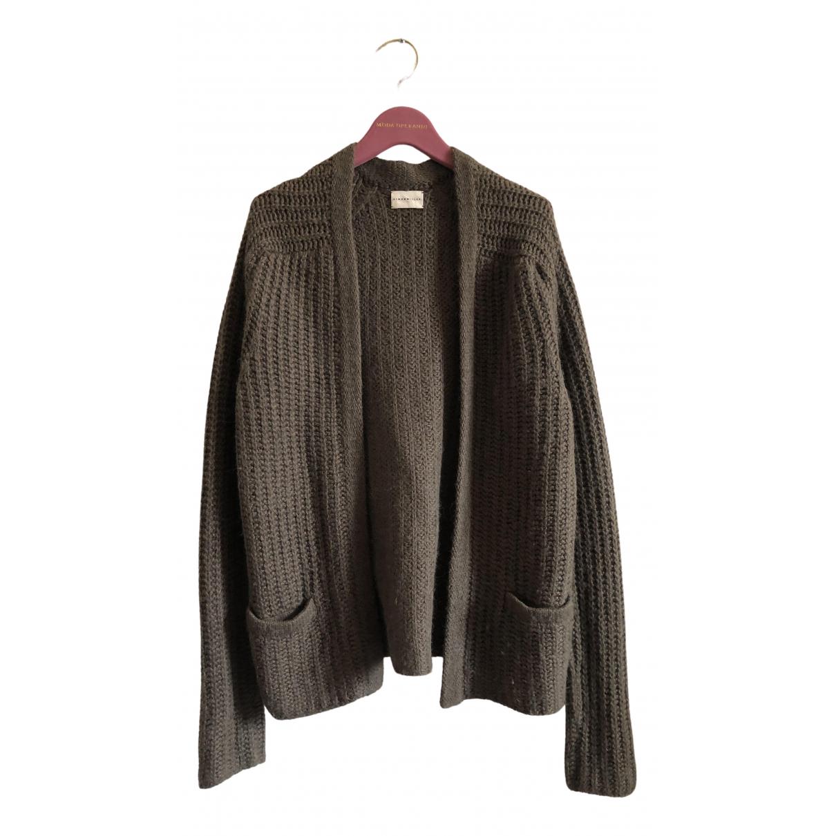 Simon Miller \N Pullover.Westen.Sweatshirts  in  Khaki Baumwolle